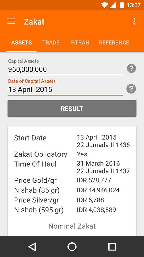 Zakat Calculator- screenshot