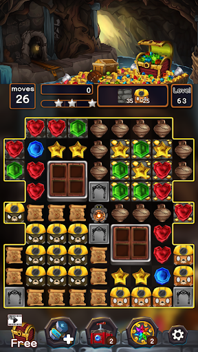 Jewel Mine Quest: Match-3 puzzle apkmr screenshots 5