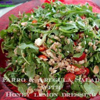 Farro & Arugula Salad with Honey Lemon Dressing