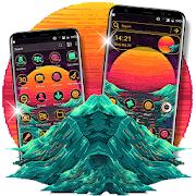 Pixel Art Sunset Launcher Theme