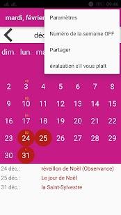 Calendrier Français - náhled