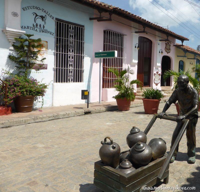 Side street in Camaguey, Cuba