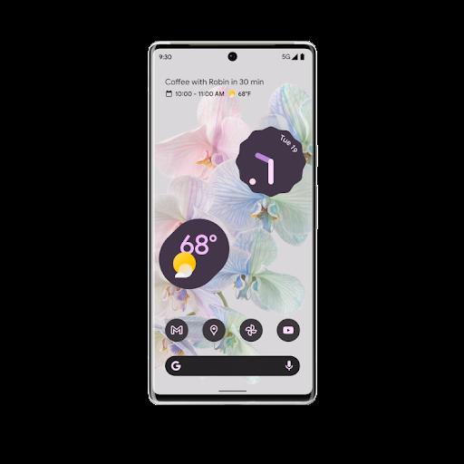 Front-facing shot of Pixel 6 Pro