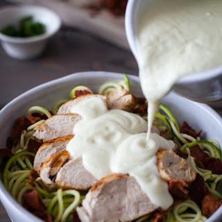 Chicken Alfredo Bake Recipe {Paleo, Clean Eating, Gluten-Free, Dairy-Free, Whole30}.