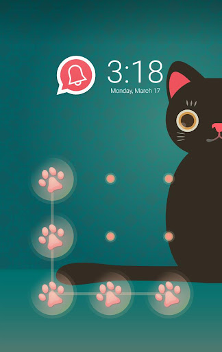 AppLock Theme Black Cat