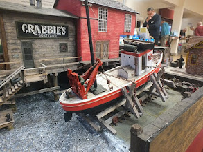 Photo: 006 Another view of the splendid modelling on the 1:48 scale Crabbie's Boatyard .