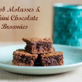 Carob Molasses & Tahini Chocolate Brownies