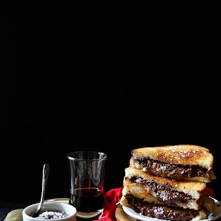 Grilled Cheese & Chocolate Sandwich with Ganache Dipping Sauce
