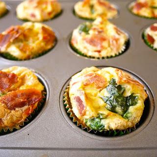 Mini Veggie and Bacon Breakfast Quiches (paleo, GF).