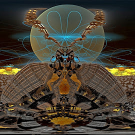 Envisioned by Rick Eskridge - Illustration Abstract & Patterns ( abstract, jwildfire, mb3d, fractal, twisted brush )