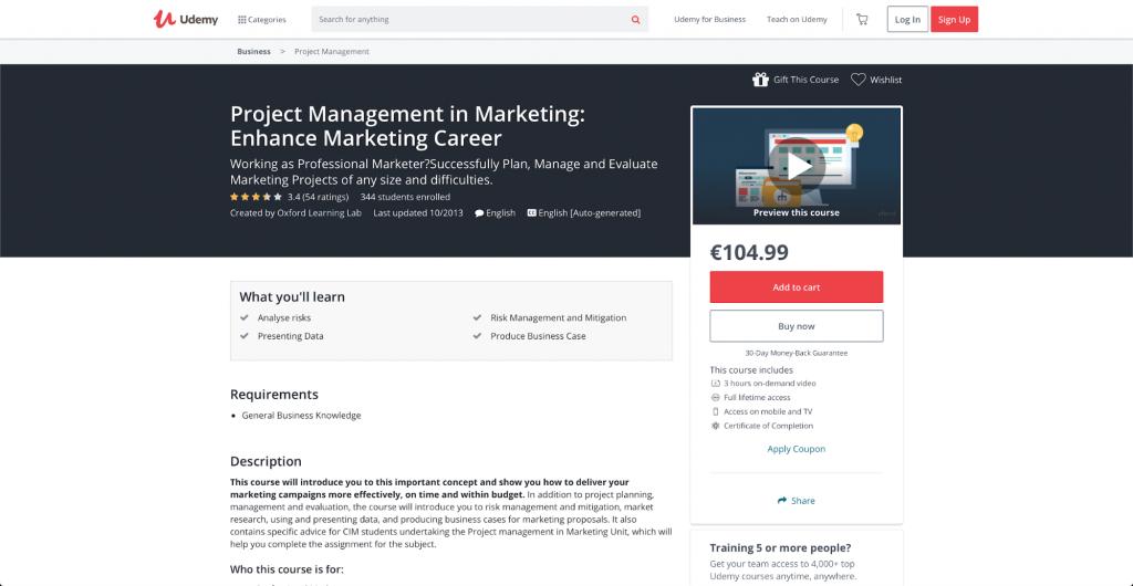 Projektmanagement im Marketing: Bringen Sie Ihre Marketing-Karriere auf das nächste Level – Oxford Learning Lab