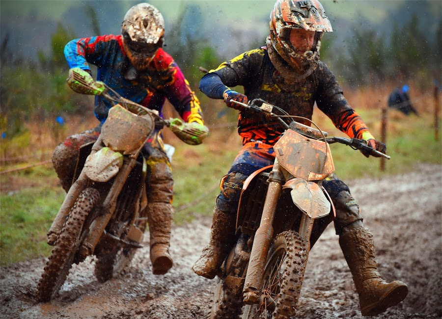 I'll Get You Still! by Marco Bertamé - Sports & Fitness Motorsports ( curve, following, mud, follower, bike, rainy, motocross, leading, leader, race, competition,  )