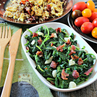 Sautéed Kale with Bacon and Garlic