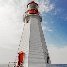 Point Riche Lighthouse by Richard Michael Lingo - Buildings & Architecture Public & Historical ( lighthouse, newfoundland, point riche, building, architecture )
