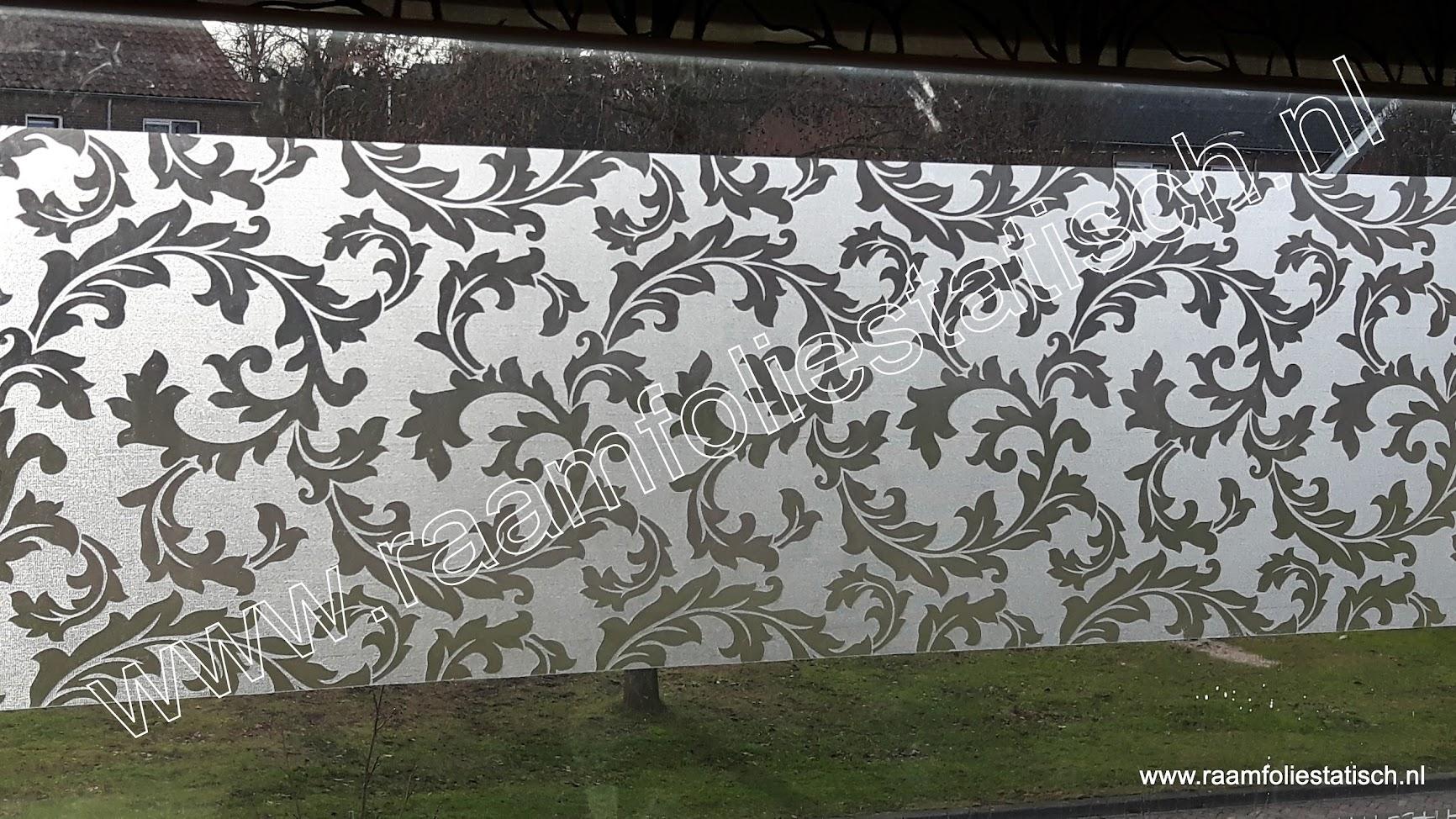 Raamfolie gekrulde bladeren 90cm raamfoliestatisch for Plakfolie decoratie