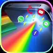 Flashlight color notification