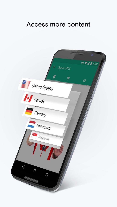 Opera Free VPN - Unlimited VPN Screenshot 1