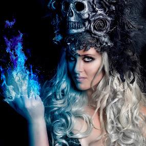 UNTITLED by Michal Challa Viljoen - Digital Art People ( darknes, color, female, beauty, composite, portrait,  )