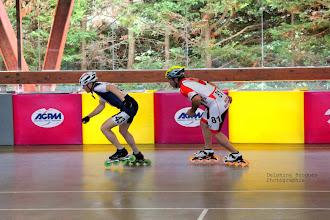 Photo: Cette fois il s'agit de l'épreuve de la grande finale de l'épreuve de vitesse, Christophe est devant Charles, et Florian s'appète à le doubler à son tour.
