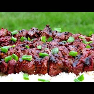 Grilled Asian Beef Shish Kebabs.