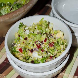 Mediterranean Shredded Brussels Sprouts Salad.