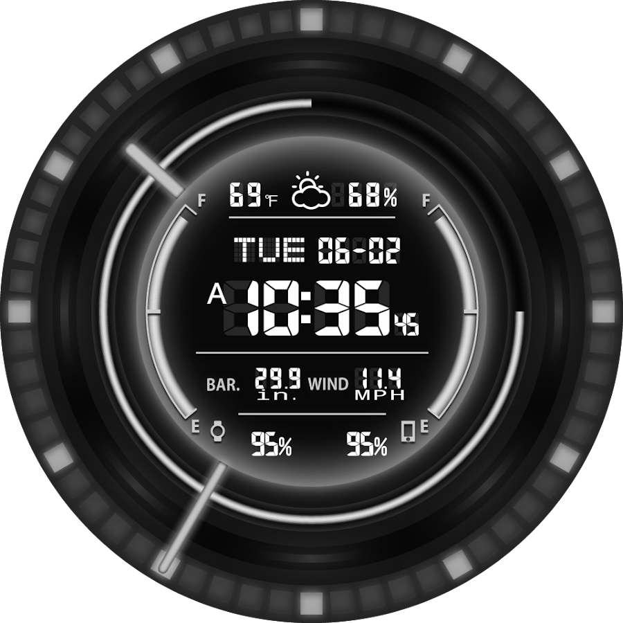 V11 WatchFace for Android Wear- screenshot