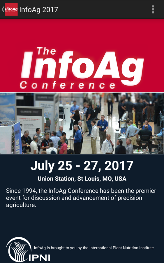 2017 InfoAg Conference App- screenshot