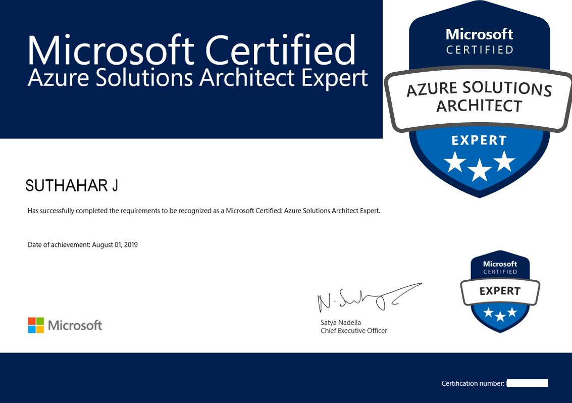 Learning: Azure Solutions Architect Expert - TechNet