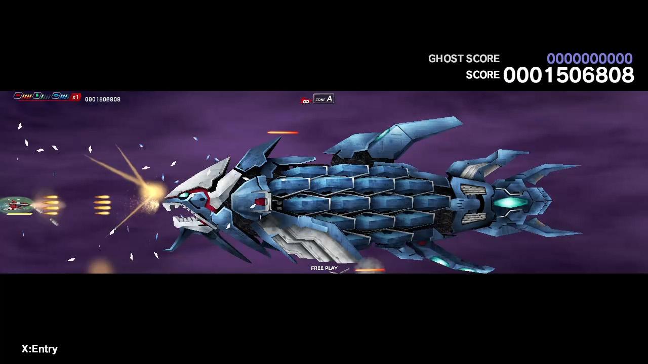 Giant fish spaceship attacks