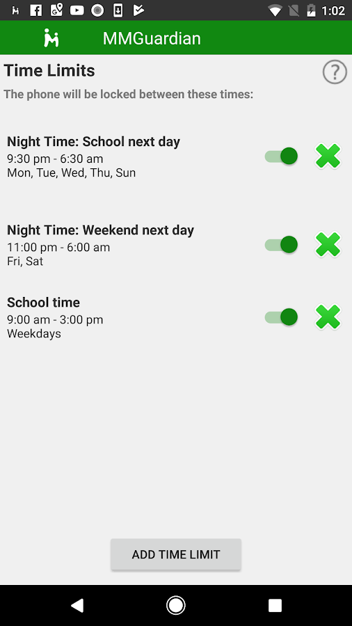 MMGuardian Parental Control  App For Kids Phone- screenshot