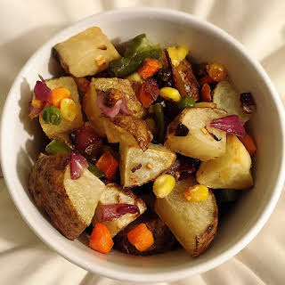 Oven Roasted Mixed Vegetables.