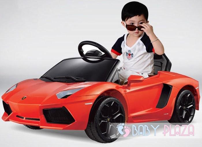 Siêu xe oto điện Rastar Lamborghini 81700 (LP700-4) màu cam