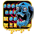 Scary Skull Graffiti Keyboard Theme
