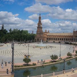 Spain by Fabienne Lawrence - City,  Street & Park  Vistas ( spain, landscape photography, center, landscape, building )