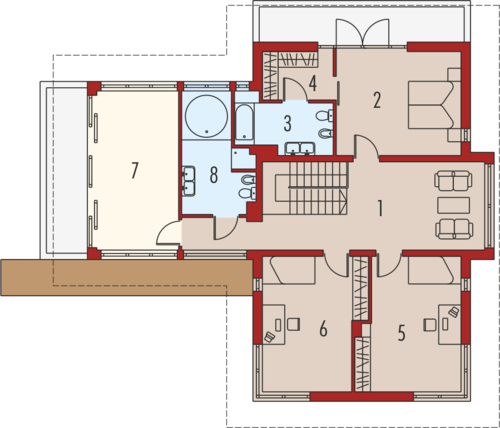Lorenzo G2 - Rzut piętra