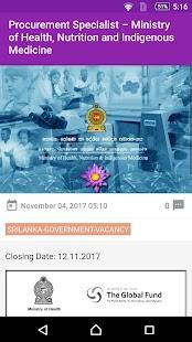 Sri Lanka Gov Jobs - náhled