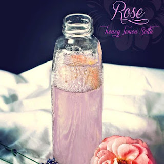 Rosewater, honey, lemon Soda