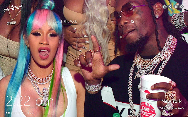 Cardi B and Offset HD Wallpapers Theme