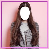 Women Long Hair Style Photo Montage