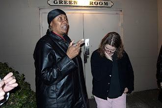 Photo: Interesting conversations outside.