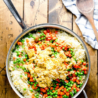 """Cauliflower Fried """"Rice"""" and The Essential Paleo Cookbook Review + Giveaway"""