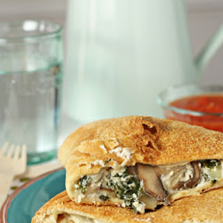 Mushroom, Spinach and Kale Calzones