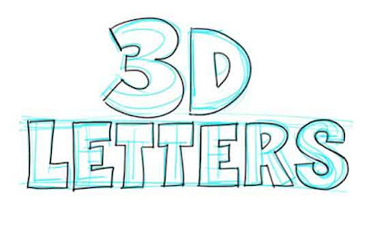 How to Draw 3D Letters: Exercise