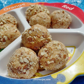 Nut and Fruit Filled Peanut Butter Balls