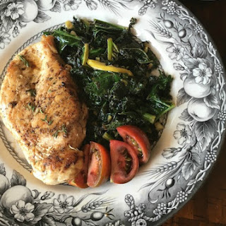 Lemon Garlic Chicken with Sauteed Kale