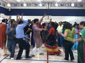 Photo: Religious Studies students party at a Garba - Fall 2012.