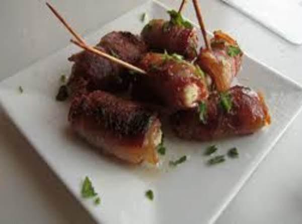 Yummy Bacon Wrapped Feta Stuffed Dates