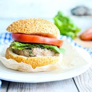 Mozzarella-Stuffed Turkey Burgers.