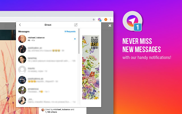 Direct Messenger for Instagram™ on desktop