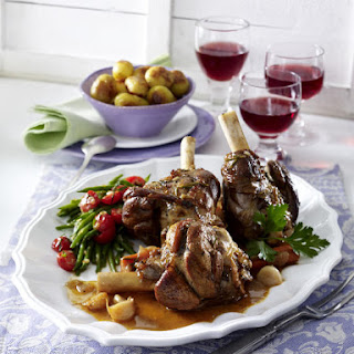 Braised Lamb Shanks with Sautéed Potatoes
